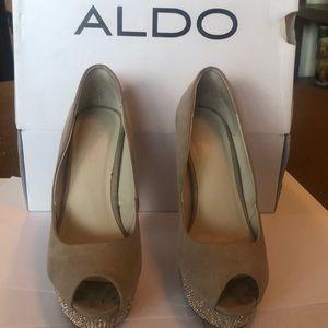 ALDO Platform Open Toe Pumps
